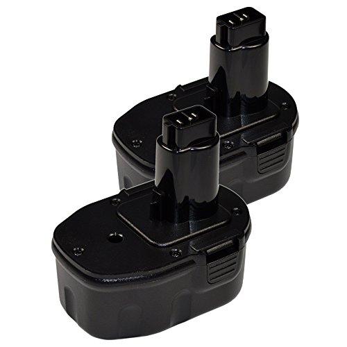 HQRP 2-Pack Battery for DEWALT DW906 DW9091 DW9094 DW9106 DW9107 DW9108 DW911 DW9116 DW9117 DW9118 DW918  HQRP Coaster