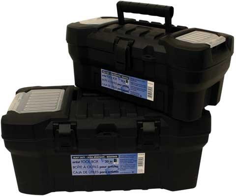 Aa Black Heavy-Duty Tool Box 20 Inch