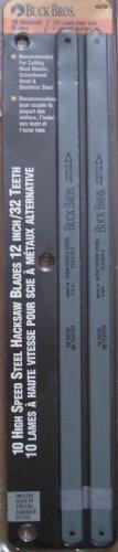 Buck Bros Hacksaw Blades 10 Blades Per Pack High Speed Steel Hacksaw Blades 12 Inch  32 Teeth