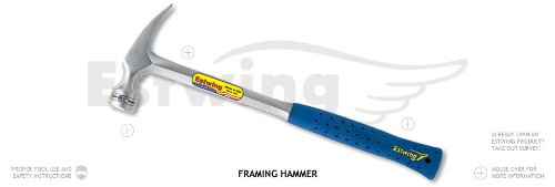 Framing Hammers - 22-oz milled face curved claw hammer long