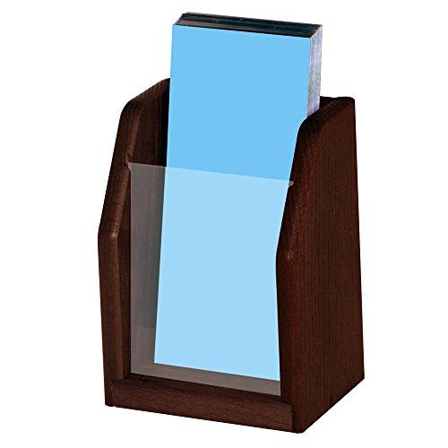 Wooden Mallet Countertop Brochure Display Medium Oak