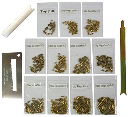 Schlage Bottom Pins with 3 Tools Rekey Kit Rekeying Set locksmith