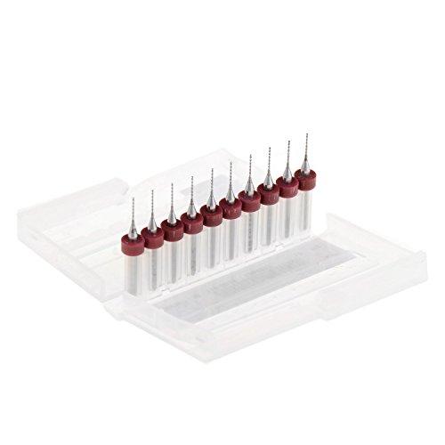 ADSRO 06mm Carbide PCB Dremel Micro Drill Bits Set Print Circuit Board Carbide TOY JEWELRY MAKINGCNC ENGRAVING CRAFTS CNC CIRCUIT BOARD PRODUCTION MODEL TRAINS CARS BOATS