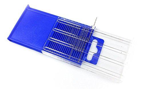 Power Tools 20pc Diamond Coated HSS Micro-Drill Bits Index  61-80 Wire Gauge Set Mini Hand