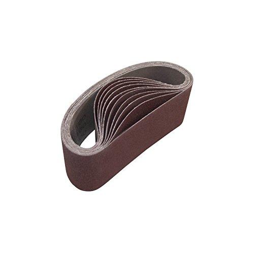 ALEKO 3-Inch x 18-Inch 100 Grit Aluminum Oxide Sanding Belt 10-Pack