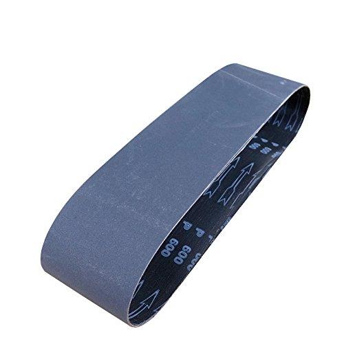 POWERTEC 456403 4 x 36 400 Grit Silicon Carbide Sanding Belt 3 Pack