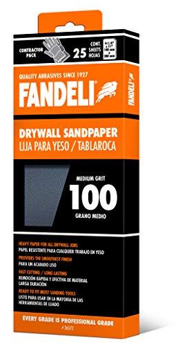 Fandeli 36572 100 Grit Drywall Sandpaper Sheets 4-14  x 11 25-Sheet