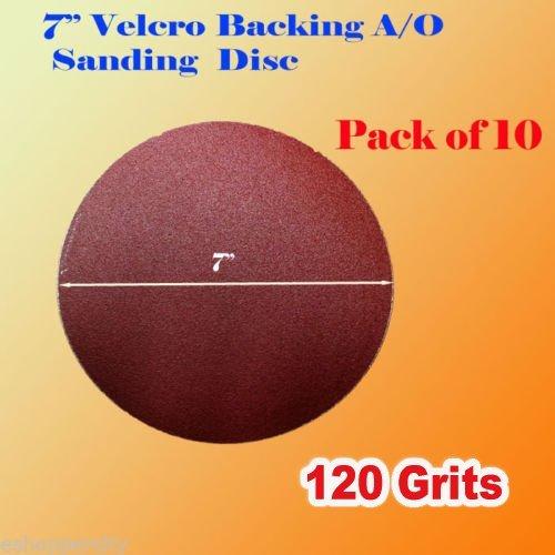 Pack of 10x 7 120 Grit Sanding Disc Paper Hook and Loop Backing Sander Abrasive Sandpaper Peel Air Sander Orbit