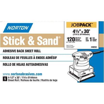 49251 4-12 X10 Yd Adh Back Sanding Roll - 120 Grit 740001201