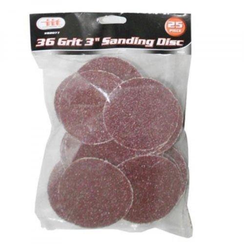 IIT 82077 36 Grit 3 Sanding Discs 25 Pack