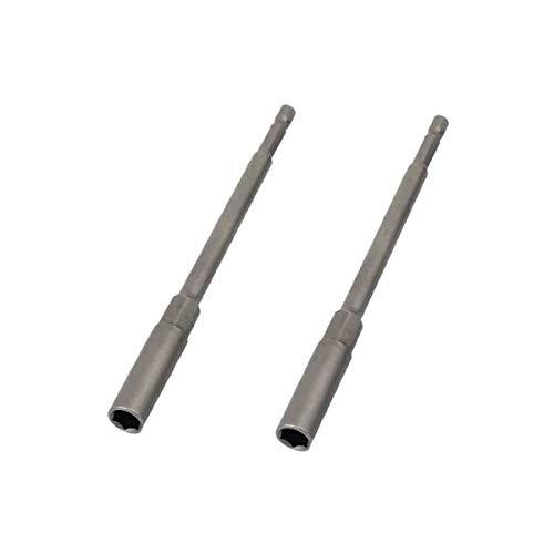 COMOK 150mm Long 8mm Hex Deep Socket Nut Driver Set Adapter Drill Bit 2Pcs