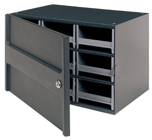 Akro-Mils 19109 9 Drawer Steel Parts Storage Hardware and Craft Cabinet with Locking Door Grey