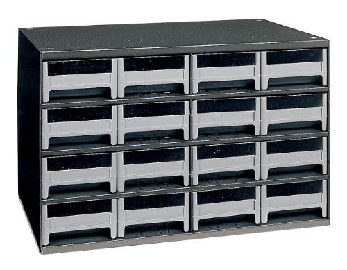Akro-Mils 19416 16 Drawer Steel Parts Storage Hardware and Craft Cabinet Grey
