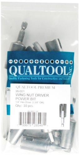 Qualtool Premium W001-10 Power Wing Nut Driver Bit 10-Pack