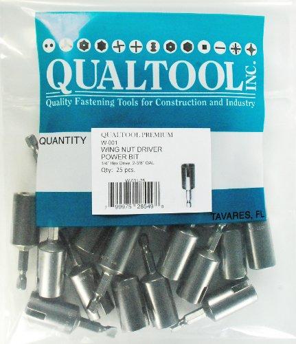 Qualtool Premium W001-25 Power Wing Nut Driver Bit 25-Pack