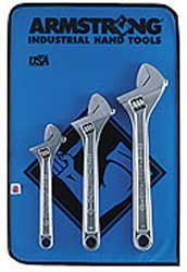 Armstrong 28-850 Chrome Adjustable Wrench Set 3-Piece