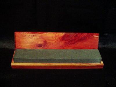 Natural Whetstone 6 Black 1200 Grit Arkansas Bench Whetstone Sharpener in Box