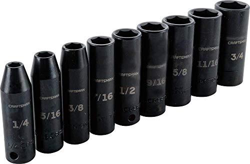 CRAFTSMAN Impact Socket Set SAE 38-Inch 9-Piece CMMT15882