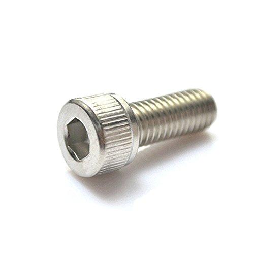 M2 x 14mm Hex Socket Head Cap ScrewsPack 100-pieceStainless SteelFull ThreadMetricKnuled Head