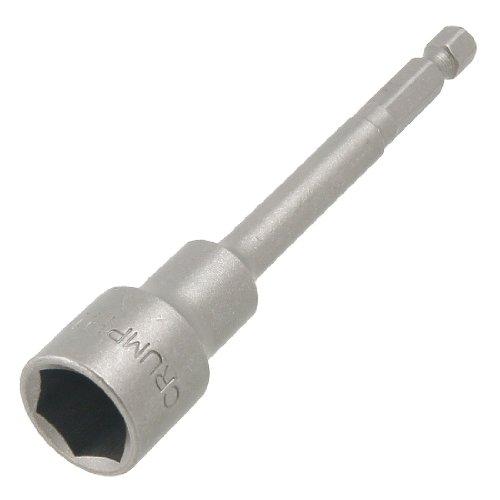 uxcell 100mm Length Magnetic 14mm Hex Socket Nut Driver Setter Gray