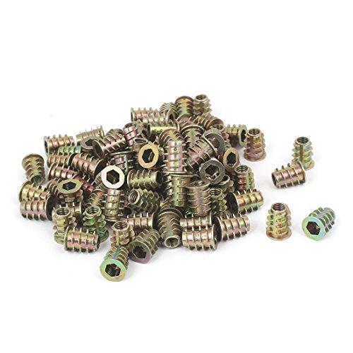 uxcell 6mmx14mm Hex Socket Head Insert Screws E-Nuts Furniture Fittings 100pcs
