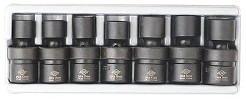Sunex 2655 7 Piece 12-Inch Drive Universal Standard Metric Impact Socket Set