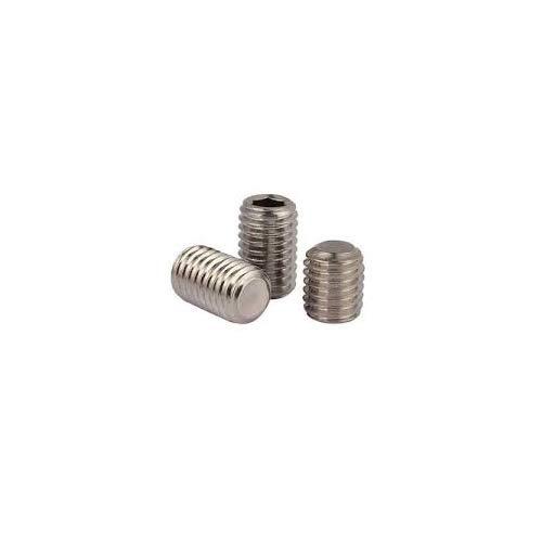 14-20 X 1 Socket Set Screw Flat Point Brass Package Qty 100