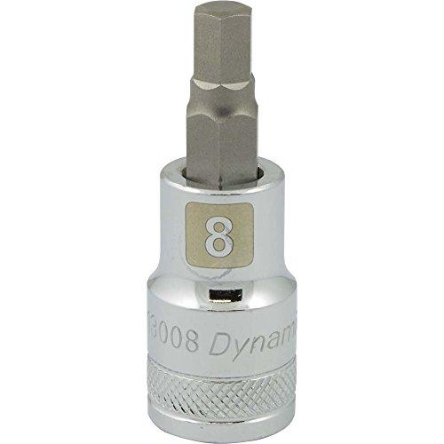Dynamic Tools D013008 12 Drive Metric Hex Head Socket with 8mm Bit Chrome Finish