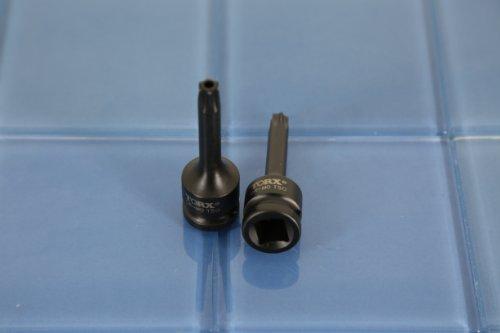TEMO Tamper Proof T-50 3 Long Black Impact Torx Socket Bit 12 Drive 7C3
