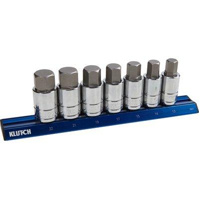 Klutch Metric Hex Bit Socket Set - 7-Pc