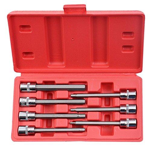 Allen Wrench Set Hex Metric Extra Long Allen Bit Socket Set with Case 7PCS 38 - House Deals