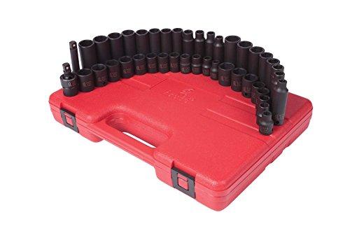 Sunex 3342 38-Inch Drive Master Impact Socket Set 42-Piece