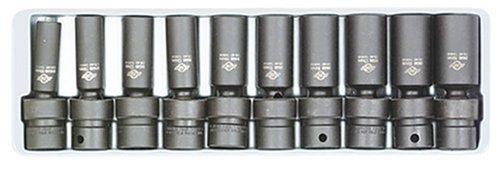 Sunex 3660 38-Inch Drive Deep Metric Universal Socket Impact Set 10-Piece