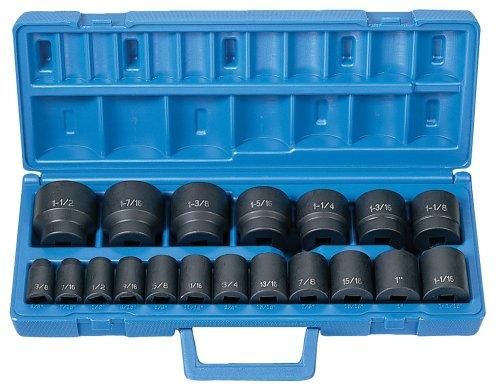Grey Pneumatic 1319 12 Drive 19-Piece Standard Length Fractional Master Socket Set