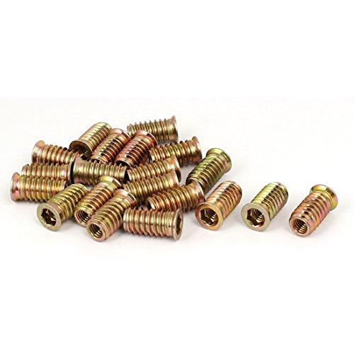 uxcell M8x25mm Flat Head Hex Socket Insert Threaded E-Nut Screw Fixing Fastener 20pcs