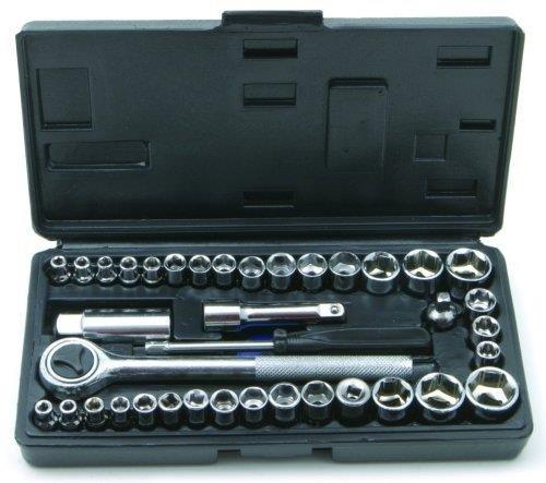 Socket Set Cheap Small Universal 40Pc 14 38 Handycase Diy Home Garage Tool