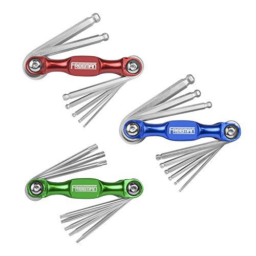 Freeman P3PHKS Folding MetricSAE Hex Torx Wrench Kit