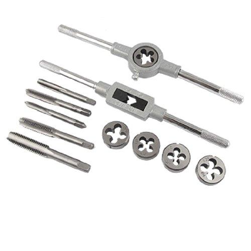 12 Pcs Metal Adjustable Tap Wrench Screw Die Stock Set