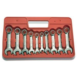 Extreme Torque 10-pc Metric Stubby Combination Wrench Set