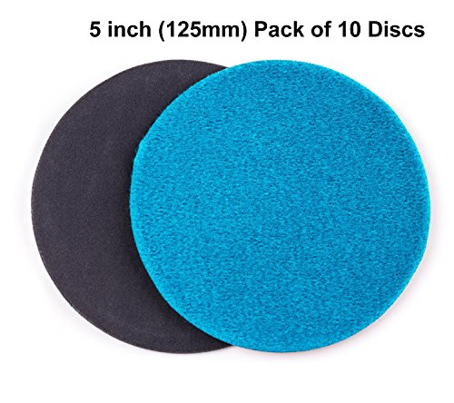 5 inch 125mm GP50 Abrasive Disc for Glass Scratch Repair FINE GRADE pack of 10 discs