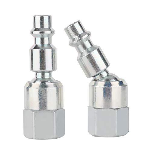 WYNNsky Air Fittings Swivel Steel Plug 14NPT Female Threads Industrial Type 2-PC Air Hose Fittings