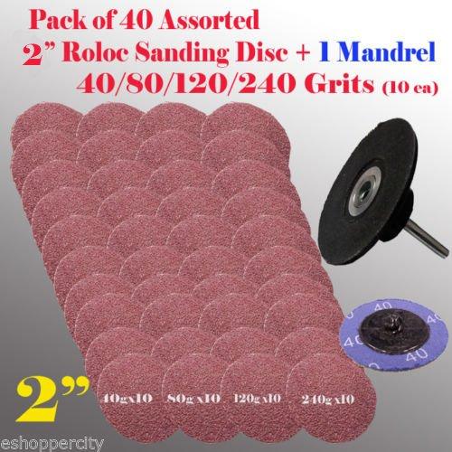 MTP Tm 401 Mix 4080120240 Grits  Mandrel 2 Roloc Type R Sanding Abrasive Disc Roll Lock