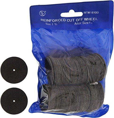 SE RFW16100 116-Inch Cut Off Wheel Arbor 100-Piece