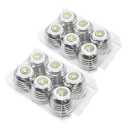 ETOPLIGHTING 12-Pack E12 - E26E27 Base Light Bulb Converter for E26 Base Sockets UL Listed Lamp Base Adapter PBT Polymer Heat Resistant APL1677