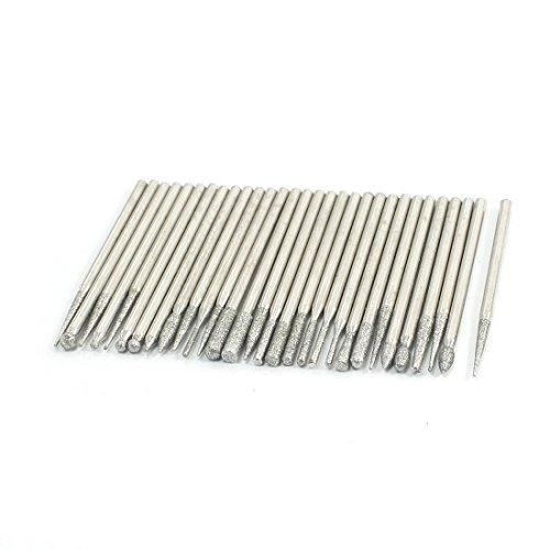 30 Pcs 23mm Shank Diamond Steel Grinder Grinding Drill Bit Sets