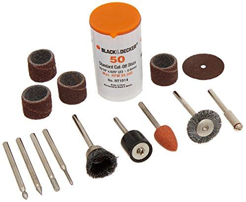 Black Decker RT1022 Rotary Tool Accessory Kit 63-Piece