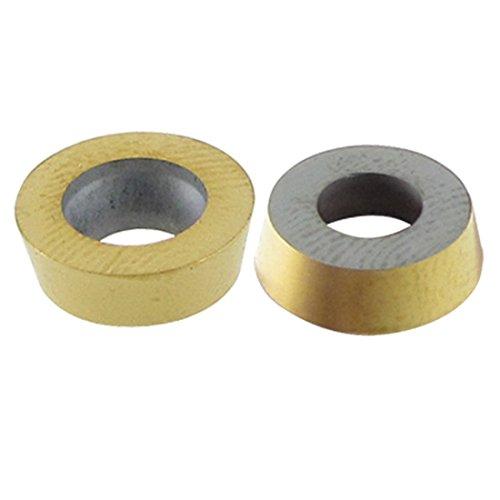 Carbide Insert - TOOGOOR 10 Pcs Milling Machine Tool 10mm Dia Round Coated Carbide Insert