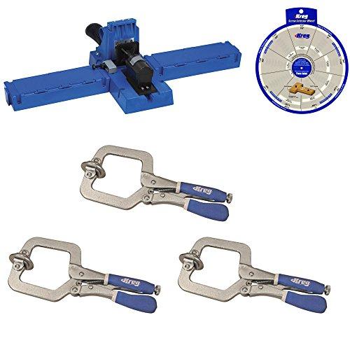 Kreg Jig K5 Pocket Hole Jig with 3 Kreg KHC Premium 3-inch Face Clamps