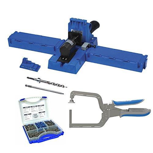 Kreg K5 Pocket-Hole Jig with Pocket-Hole Screw Kit and Right Angle Clamp
