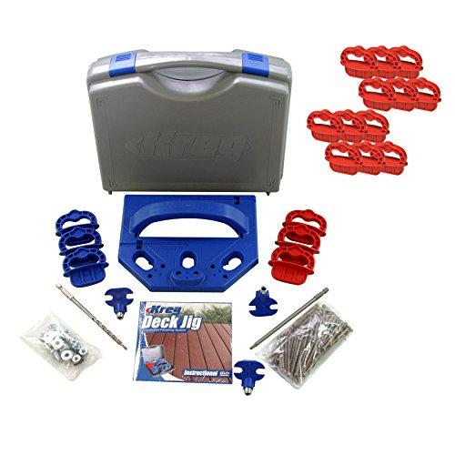Kreg Tools KJDECKSYS Deck Pocket Hole Jig System with 14-inch Jig Spacer Rings